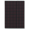 Notatnik Quadro black on red