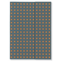 Notatnik Quadro grey on orange