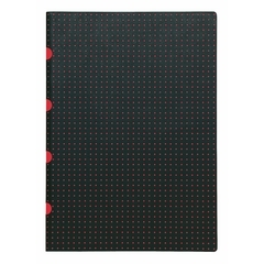Notatnik Cahiers black on red